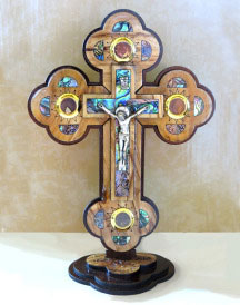 Holy Land relic crucifix 7-inch