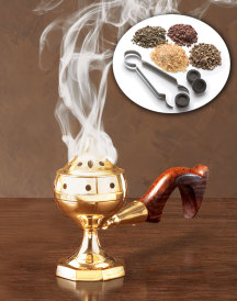 Home Incense Kit with brass censer