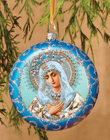 Humility of the Virgin Icon Ornament
