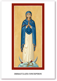 Immaculate Conception Holy Cards