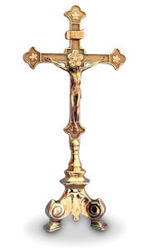 Italian Brass Crucifix