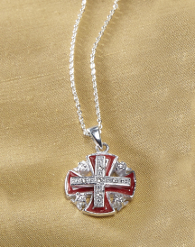 Jerusalem Silver Cross red