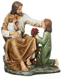 ON SALE Jesus with Children figurine
