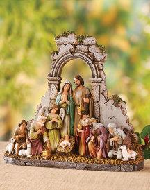 Kneeling Nativity Figurine