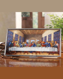 Last Supper Glass Suncatcher