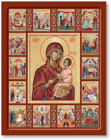 Life of the Virgin Mary Icon - 11