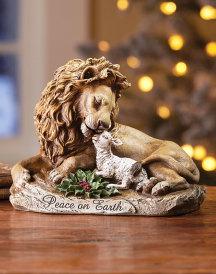 Lion and Lamb Figurine