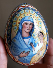 Madonna and Child Fine Art Egg