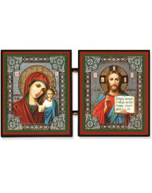 Mini Diptych of Christ and Madonna