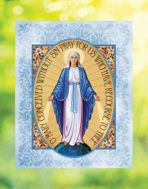 Miraculous Medal Window Vinyl