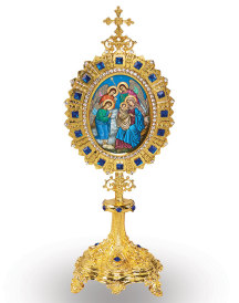 Monstrance style Christmas Icon ornament