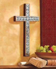 Mother of Pearl Wall Cross, large