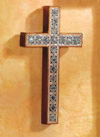 Mother of Pearl Wall Cross, medium
