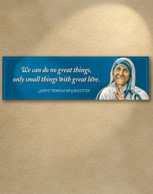 Saint Teresa Inspirational Plaque