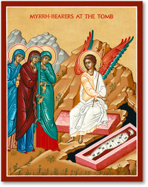 Myrrhbearers at Tomb icon - 3