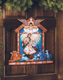 Nativity Door Hanging - large