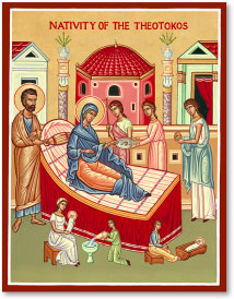 Nativity of the Virgin icon - 3