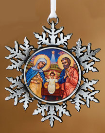 Nativity snowflake ornament