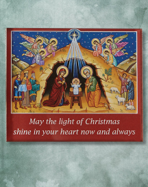 O Holy Night Christmas Greeting Magnet