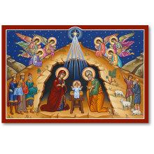 O Holy Night Christmas Icon Magnet