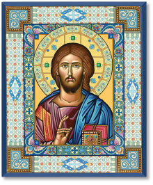 Ornamental Christ Icon  - 8