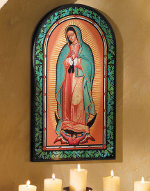 Arched Guadalupe Plaque - Ornamental Guadalupe Plaque 10