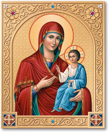 Ornamental Shrine of the Virgin Mary Directress icon - 8