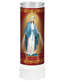 Our Lady of Grace Electric Votive Candle