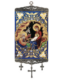 Nativity of Christ Icon Wall Hanging - 9""