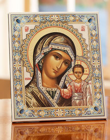 Our Lady of Kazan Leatherette Icon