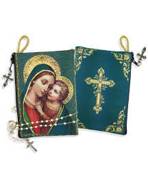 Madonna and Child Rosary Pouch