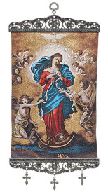 ON SALE Mary Untier of Knots Wall Hanging