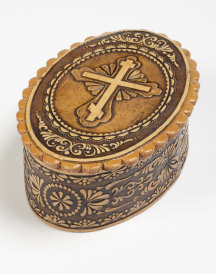 Oval Birch Rosary Box