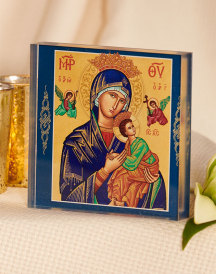 Perpetual Help Acrylic Glass Desktop Icon