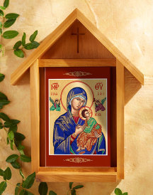 Perpetual Help Indoor-Outdoor Cedar Shrine