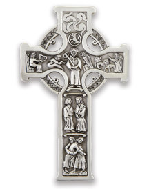Pewter Finish Celtic Cross