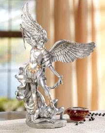 Pewter Style St Michael Statue