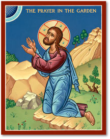 Prayer in the Garden icon