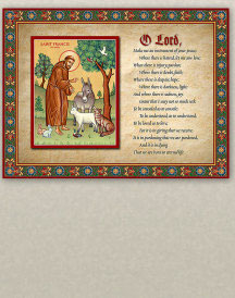 Prayer of Saint Francis Inspirational Plaque - 8
