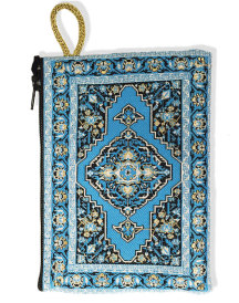 Prayer rope pouch, light blue