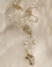 ON SALE Queen of Heaven Crystal Rosary