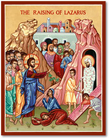 Raising of Lazarus icon - 8