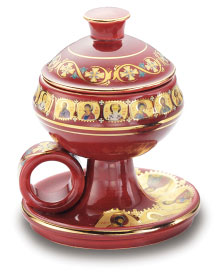 Red Ceramic Home Incense Burner