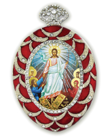 Resurrection Enamel Icon Ornament
