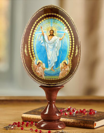 Resurrection Wooden Egg large