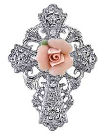 Rose Cross Brooch