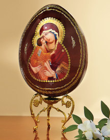 Russian Wooden Icon Egg