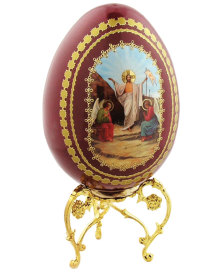 Russian Wooden Icon Egg, large