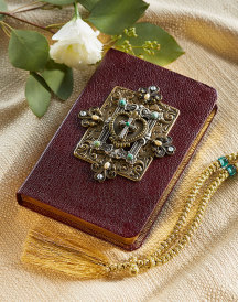 Sacred Heart Jeweled Bible