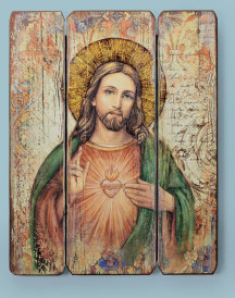 Sacred Heart Ornamental Panel